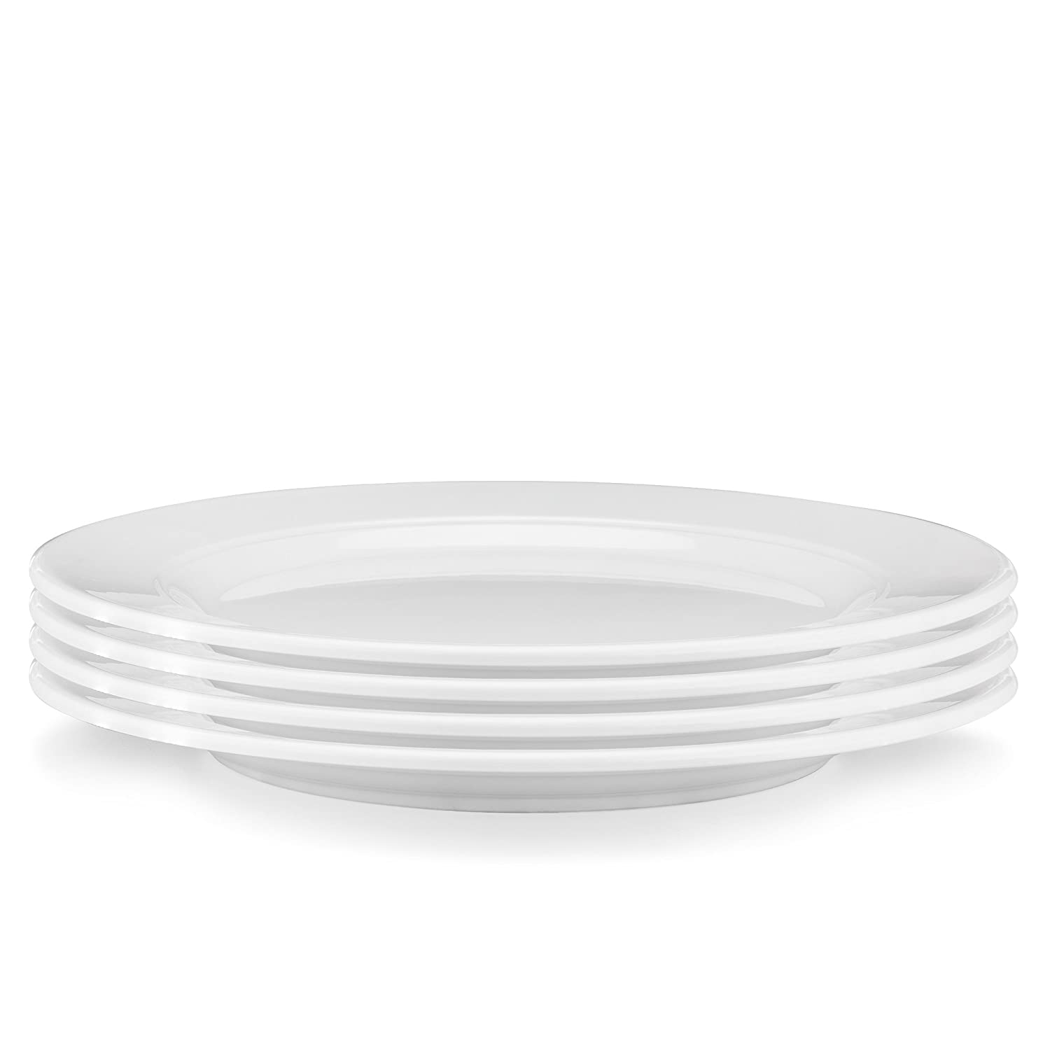 Set of 4 Q Squared Diamond Round Cereal Bowl 5-1//2-inches White Q Squared NYC DWROU04SC