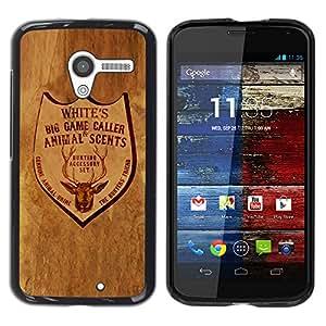 El bar en el rancho - Metal de aluminio y de plástico duro Caja del teléfono - Negro - Motorola Moto X 1 1st GEN I