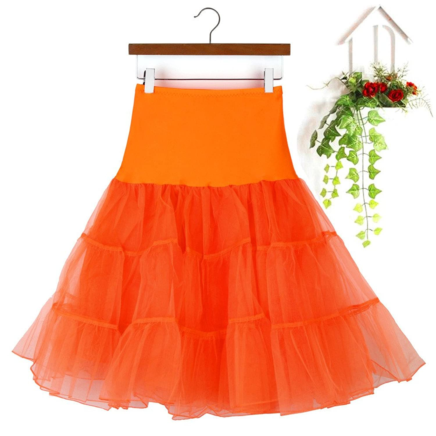 shitou Candy-Colored Womens High Waist Pleated Adult Tutu Dancing Skirt