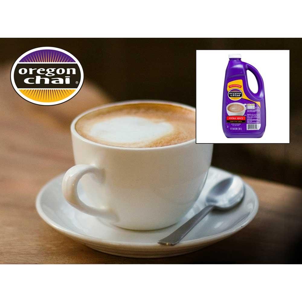 Oregon Chai Extra Spicy Chai Tea Super Concentrate - 0.5 gallon jug, 4 jugs per case