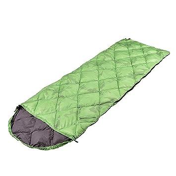 HX outdoor Saco de Dormir,Plumas Edredón Tipo de Envoltura Exterior Ultra Light Camping y Engrosamiento Adulto Bolsa de Dormir,Verde: Amazon.es: Deportes y ...