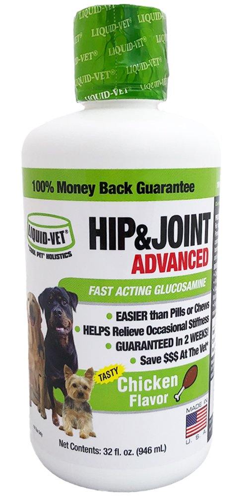 Liquid-Vet by COOL PET Holistics LVDJA-CH-04PK-32U Hip & Joint Dog Joint Supplement, 32 oz