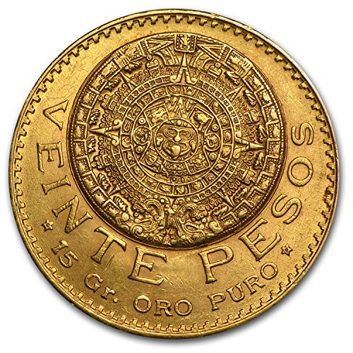 1918 MX Mexico Gold 20 Pesos AU Gold About Uncirculated