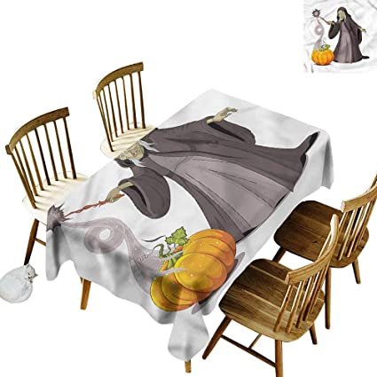 Amazon com: Tim1Beve Custom Tablecloth Witch Spooky Woman Casts a