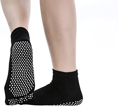 Amazon.com: Calcetines para yoga, pilates antideslizantes de ...