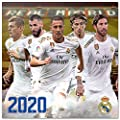 ERIK - Real Madrid 2020 Wall Calendar, Home Office Planner, (16 Months), 30 x 30cm