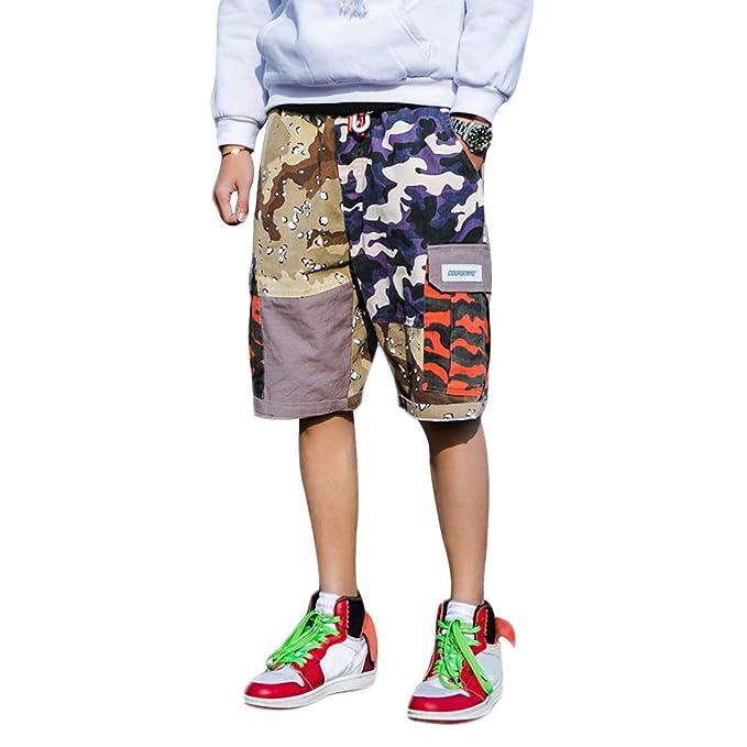 Shorts Bermudas Carga Verano Moda Callejera /& Urbana para Adolescentes y Ni/ños Estilo Hip Hop con Cartel//Letras Impresas Irypulse Cargo Pantalones Cortos Hombre Bermudas Casual Dise/ño Original