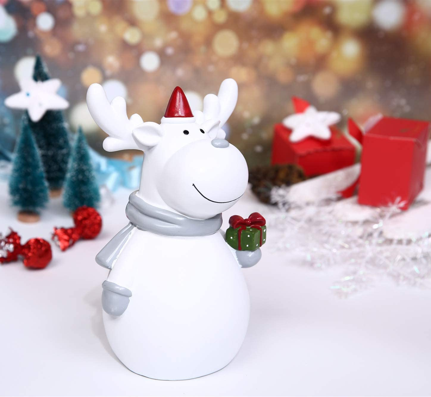 Happy Snowman Piggy Banks for Boys and Girls White Christmas Decoration Large Size Resin Gift Money Box Great Gift for Children in Christmas Child to Cherish Money Piggy Banks for Kids