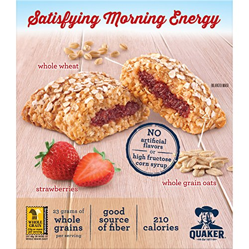 Quaker Breakfast Squares, Variety Pack, Blueberry & Strawberry, 5 Count (Pack of 4)