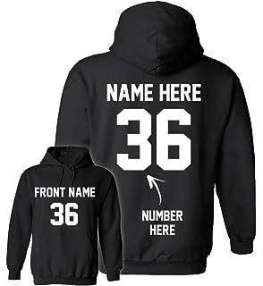 aefc89241dfb2 Amazon.com: Design Your OWN Hoodie - Custom Jersey Hoodies ...