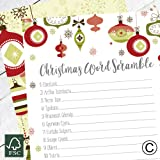 christmas word scramble cards party game christmas entertainment christmas eve games family fun cgws - Fun Christmas Trivia