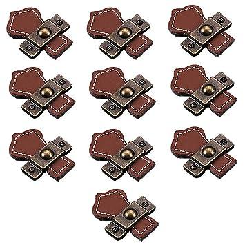 fbshop (TM) Retro Learther tiradores de cajón/pomos/asas/para armario