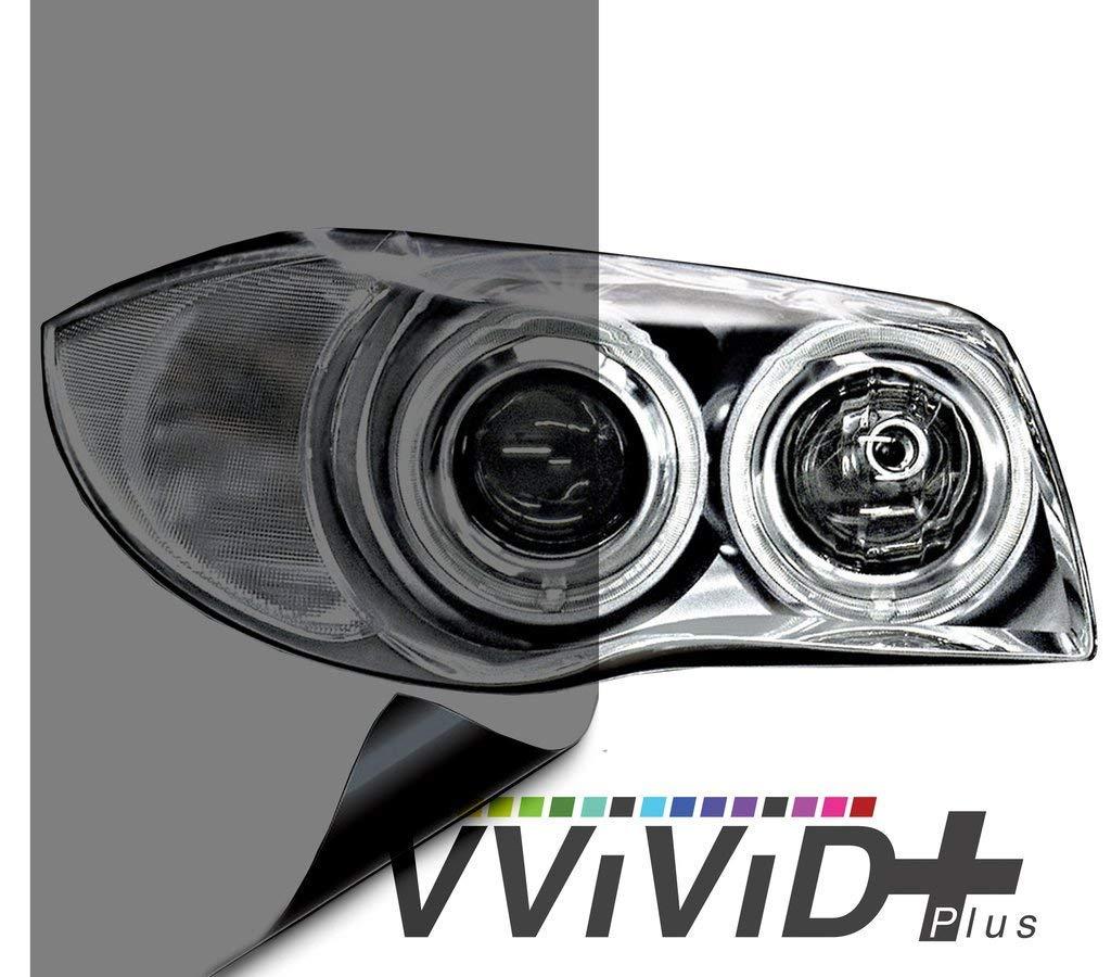 B07NRV87GG VViViD Smoke Black Gloss Vinyl Headlight Foglight Transparent Wet Tint Wrap Self-Adhesive (13 Inch x 60 Inch) 61zdLs76iUL