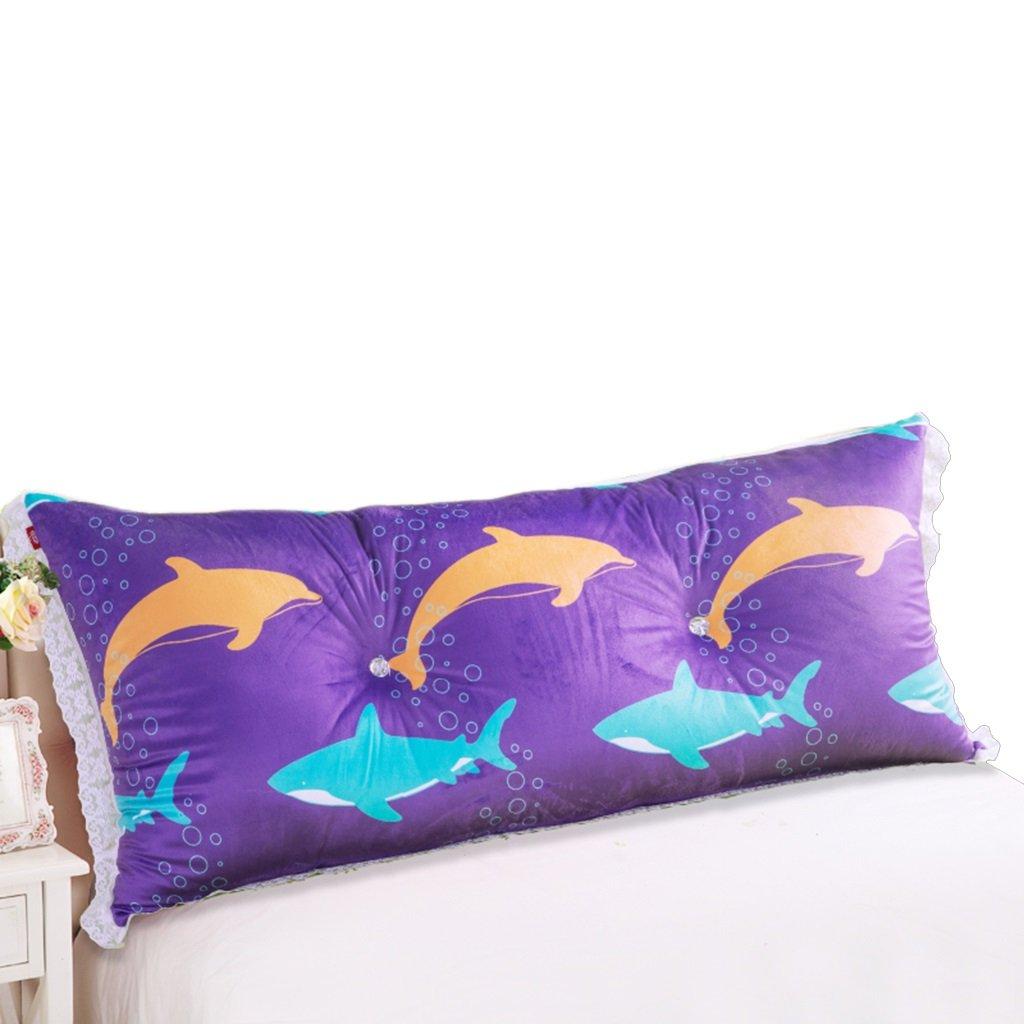 LANNA SHOP- Student Children Bedside Large Cushions Big Back Pillow Cushions Double Triangular Cushions Soft Bag Pillow ( Size : 18075cm )