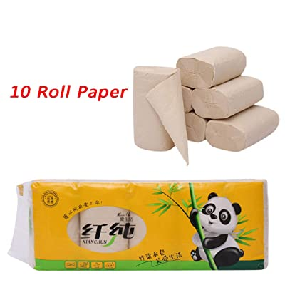 10 Rolls Paper Hand Towels Toilet Paper Soft Toilet Paper,Premium Quality Household Paper Towels (Yellow): Kitchen & Dining