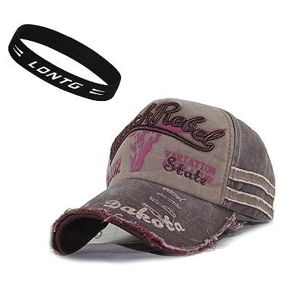 c55a0c04eb92a Unisex Gorra de béisbol Vintage Jeans sombrero de golf sol playa algodón  ajustable Gorra Visera anti