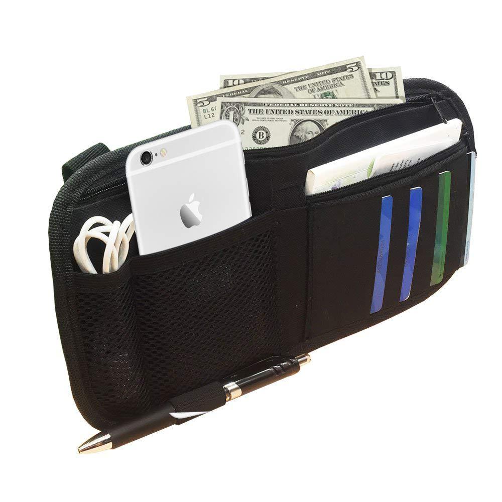 Car Sun Visor Organizer Registration and Document Holder Personal Belonging Storage Pouch Organizer Interior Accessories Pocket Organizer Auto Interior Accessories Pocket Organizer