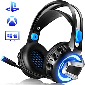 Gaming Headset for Xbox One, PS4, PC