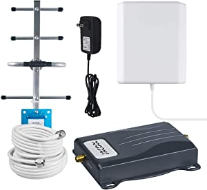 Verizon Signal Booster 4G LTE Cell Phone Signal Booster Amplifier 700Mhz Band 13 Verizon Mobile Signal Repeater for Home and Office - Boost 4G Data Speed for Remote Area