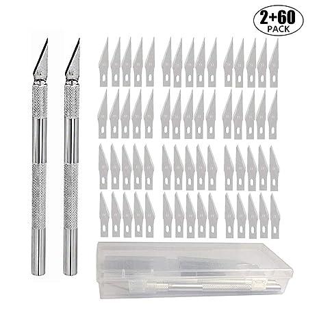 Amazon.com: Juego de 2 cuchillos de hobby con 20/60 ...