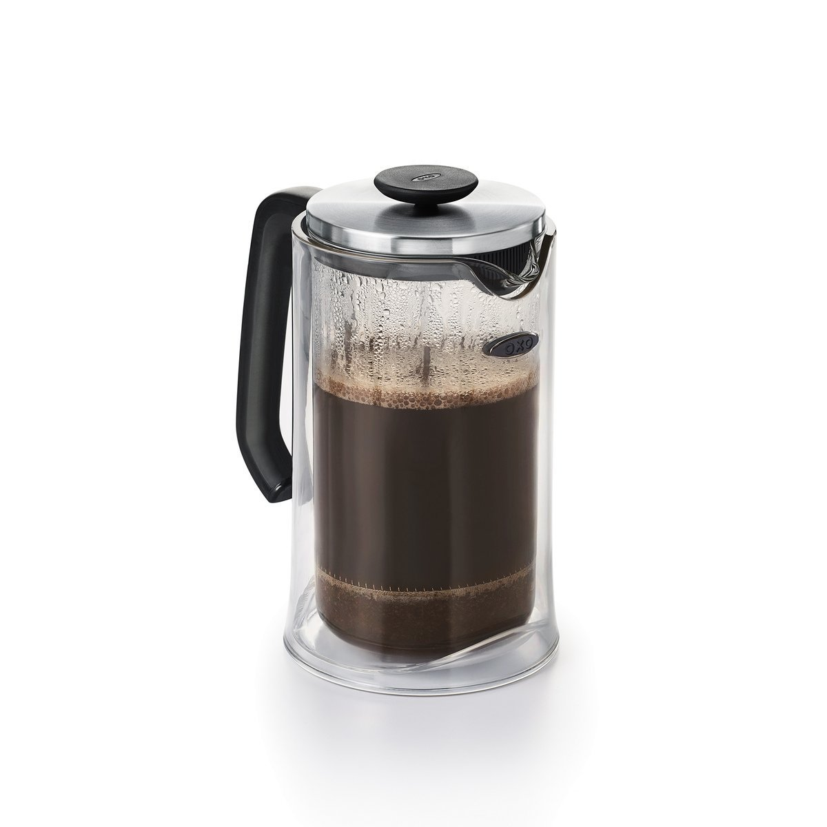 OXO Good Grips Double-Wall Impact French Press with Protective Tritan Case and Glass Carafe, 32 Ounce (8 Cups)