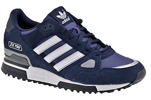 adidas Uomo Originals ZX 750 Running Retro Casual Scarpe, Blu