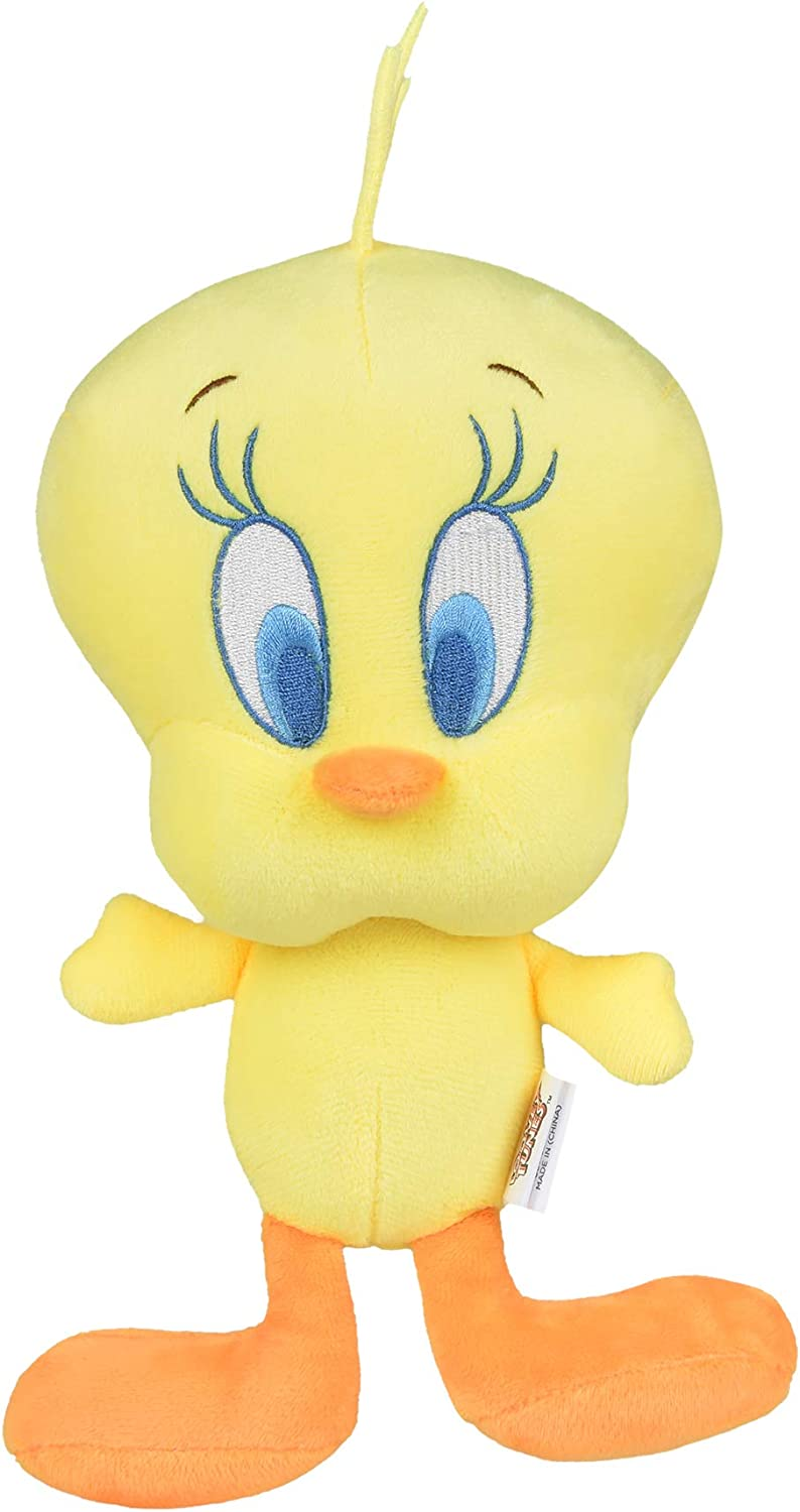 Warner Brothers - Looney Tunes Tweety Plush Figure Dog Toy - Yellow Tweety Bird Squeaky Plush Toy for Dogs - Soft and Cute Squeaky Dog Toys for All Dogs, Stuffed Animals for Dogs