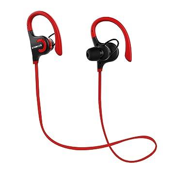 LOBKIN Bluetooth 4.1 auriculares inalámbricos Deporte corriente estéreo Gimnasio Auriculares Auriculares llamadas manos libres de coche