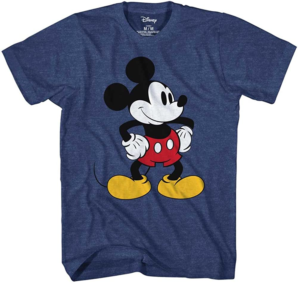 Mickey Mouse Tones Graphic Tee Classic Vintage Disneyland World Adult Tee Graphic T-Shirt for Men Tshirt Clothing Apparel