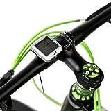 Lixada ワイヤレス 自転車 サイクリング コンピューター 走行距離計 スピードメーター ストップウォッチ バックライト付き 防水 多機能 全2色