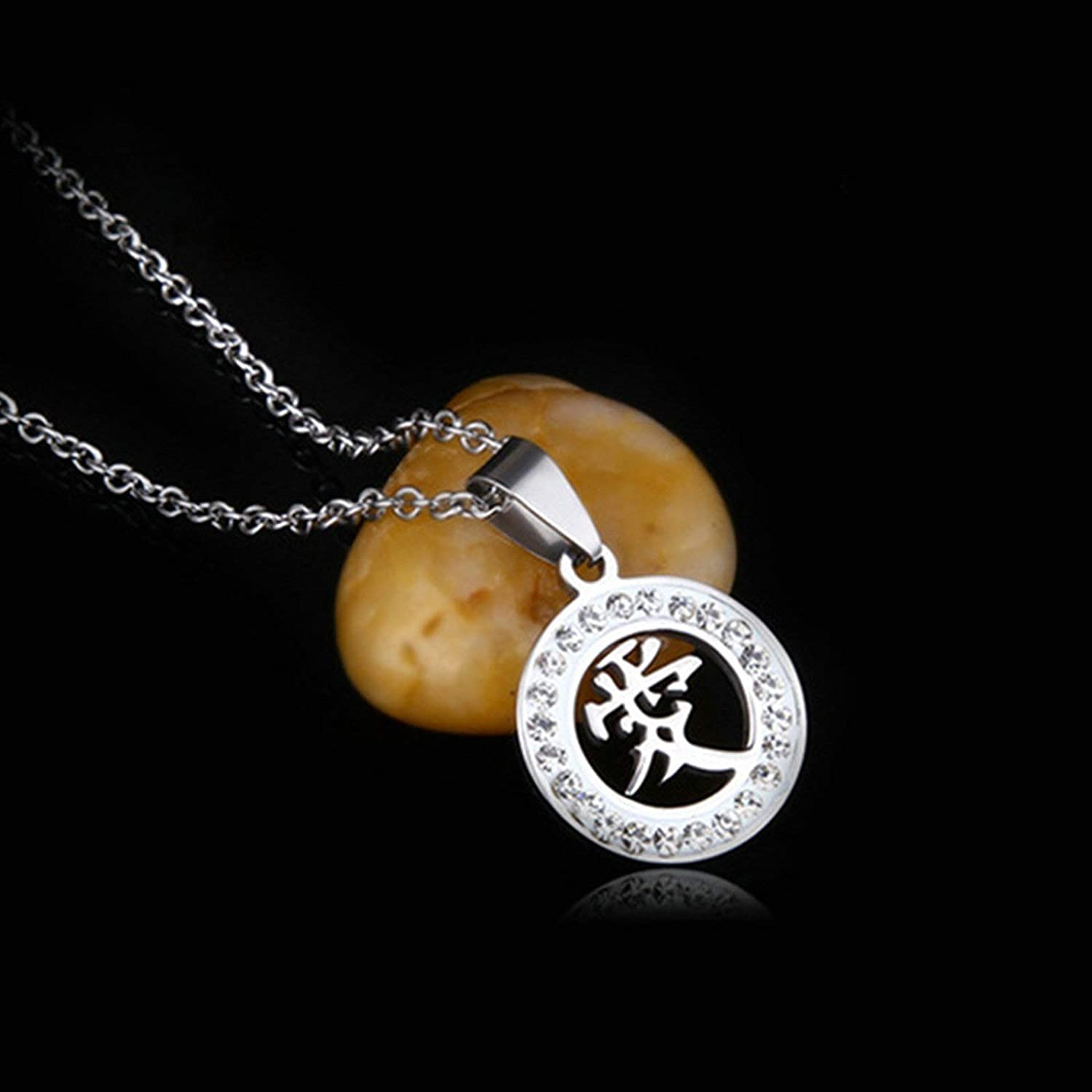 Aooaz Stainless Steel Necklace Biker Round Pendant Hip Hop Necklace