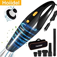 Car Vacuum Cleaner, Hoiidel 100w Powerful Suction Handheld Portable Auto Vacuum Cleaner, Wet and Dry Materials with 15…