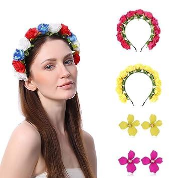 UK Women//Girl Children Wreath Flower Headband Floral Crown Garland Wedding Beach