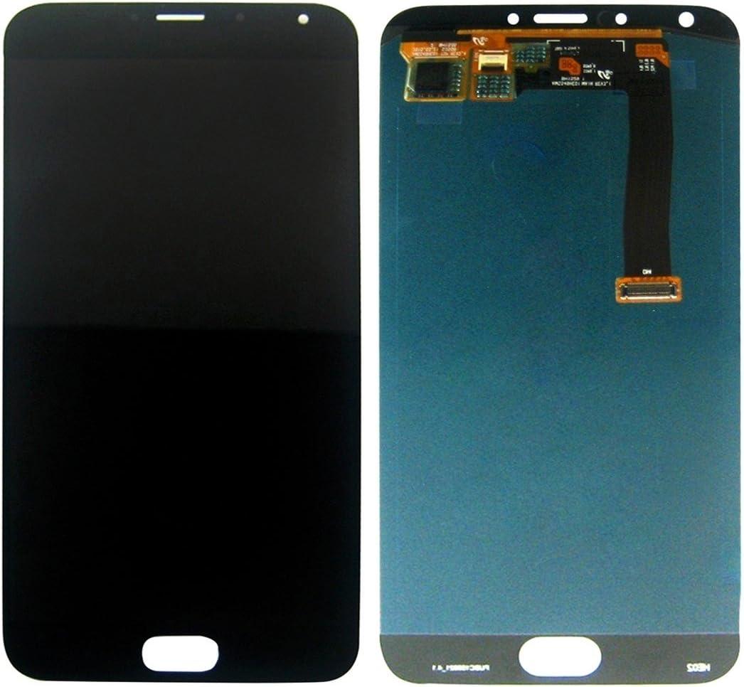 IPartsBuy para la pantalla LCD de Meizu MX5 + el ensamblaje del digitalizador de pantalla táctil Reemplace el viejo, roto, agrietado, dañado Protector de pantalla (Talla : For meizu mx5 black) :