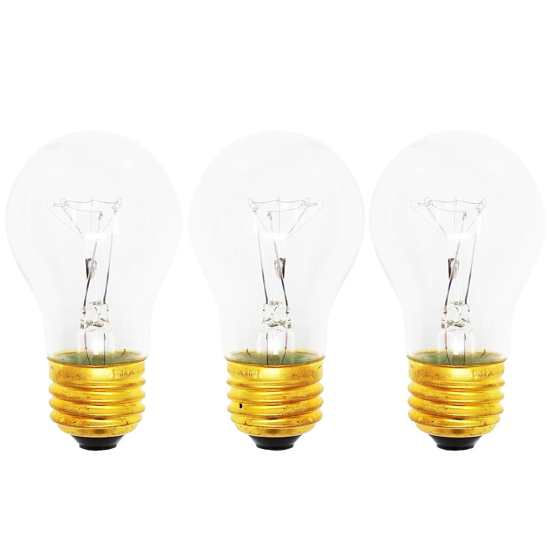 3-Pack Replacement Light Bulb for KitchenAid KSCS25FJSS00 - Compatible KitchenAid 8009 Light Bulb