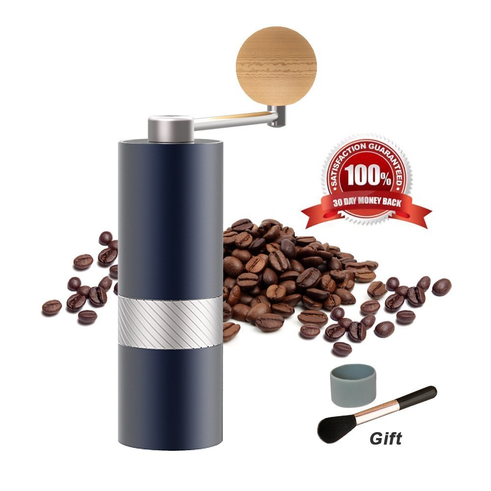 Manual Burr Coffee Grinder with Stainless Steel Conical Burr, Consistency Grinding, Mini