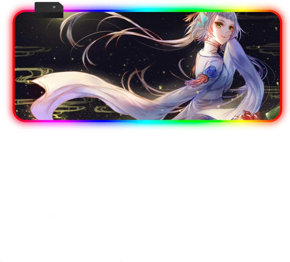Mouse Pads Chinese Style Anime Girl RGB Gaming Mousepad: Amazon.co