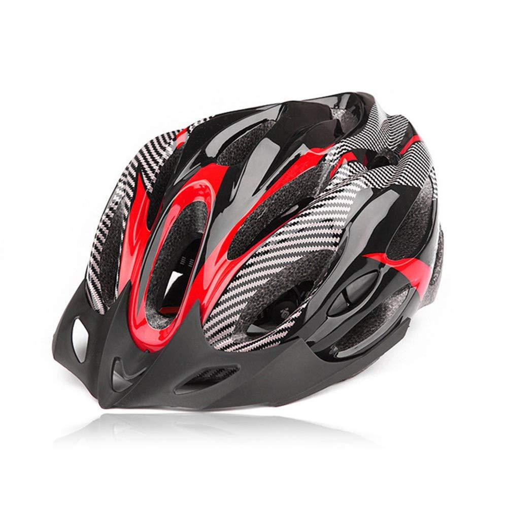 Paraurti in Fibra di Carbonio alla Moda fuchsiaan Casco da Ciclismo per Adulti Casco da Ciclismo per Mountain Bike Regolabile per Uomo Donna