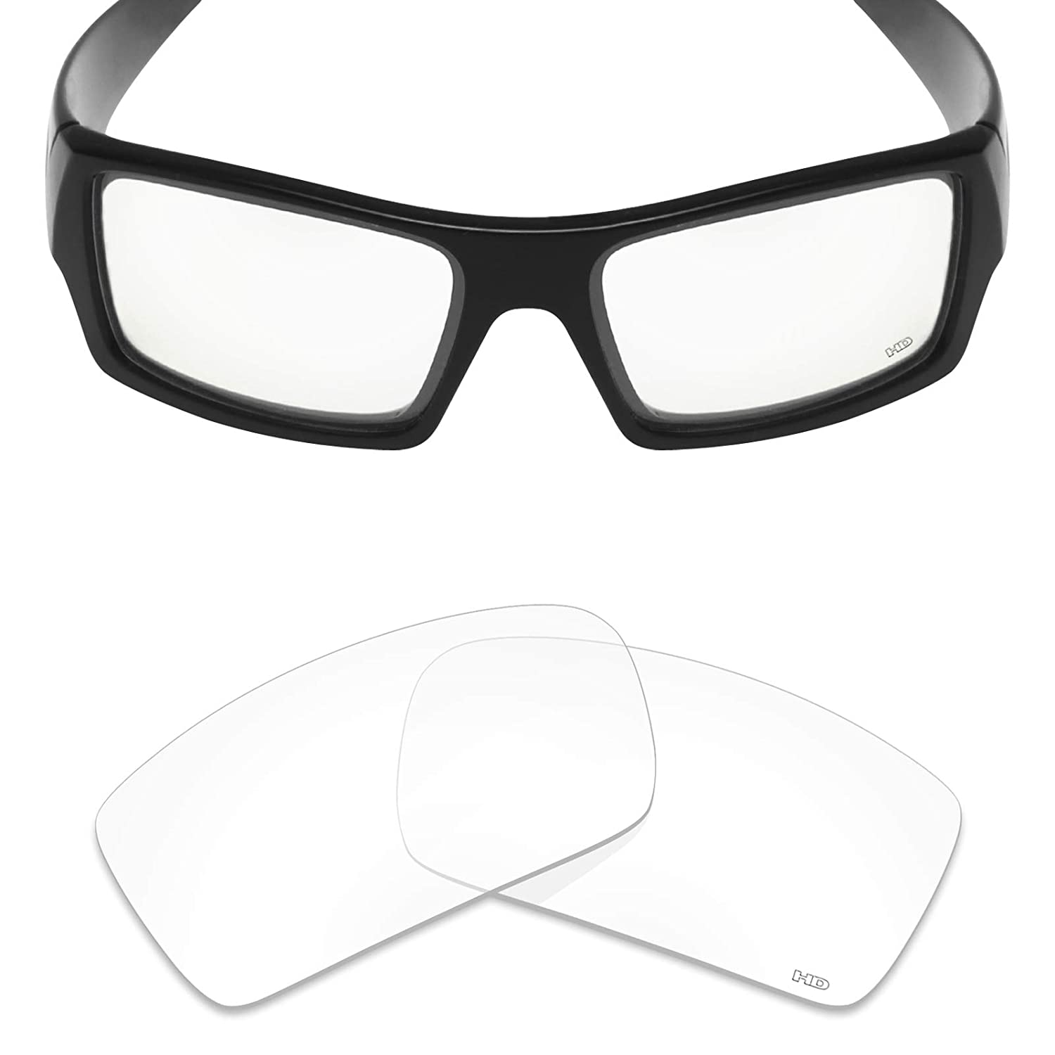 632527beba5 Amazon.com  Mryok+ Polarized Replacement Lenses for Oakley Gascan - HD  Clear  Clothing