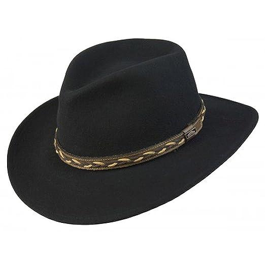 Conner Hats Men s Jasper Outback Waterproof Wool Crusher Hat at ... c2287fc14c3e
