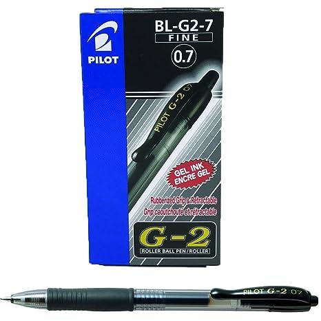 2c570003e6 Pilot G207 Penna (0,7 mm), confezione da 12, colore: Nero: Amazon.it ...