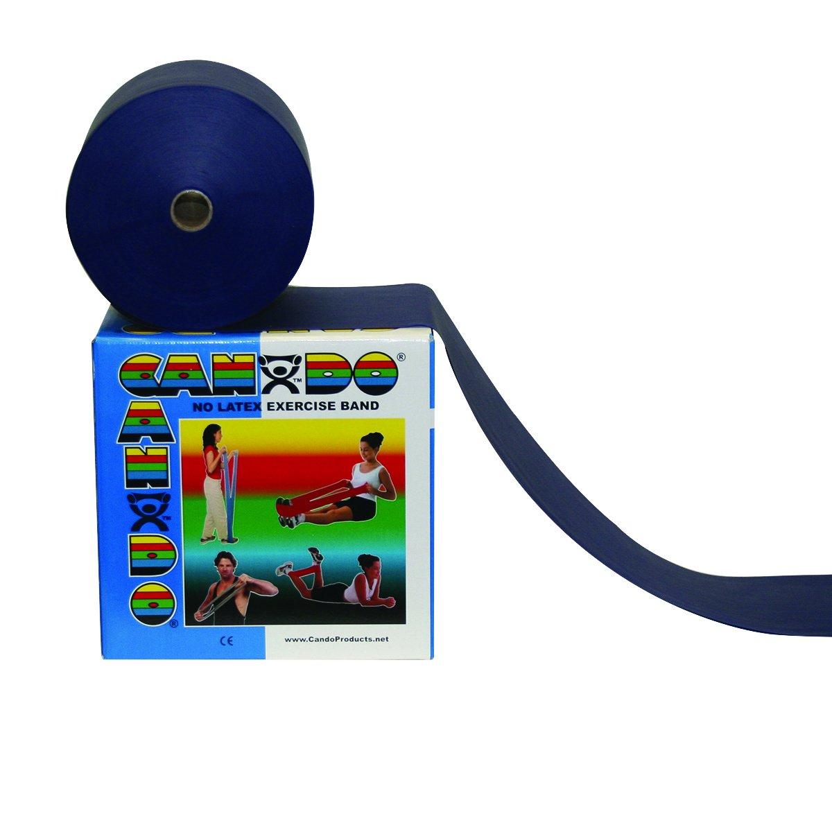 CanDo 10-5604 Latex Free Exercise Band, 4' Length, Blue-Heavy