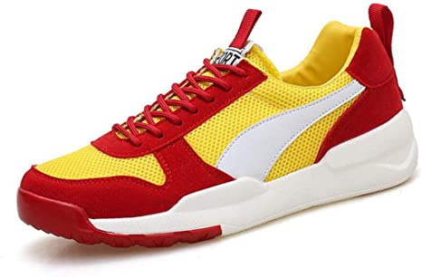 ZIXUAP Autumn - Zapatillas de Running para Hombre, Suela Gruesa, Transpirables, para Deportes, Estilo Informal, B, 39: Amazon.es: Deportes y aire libre