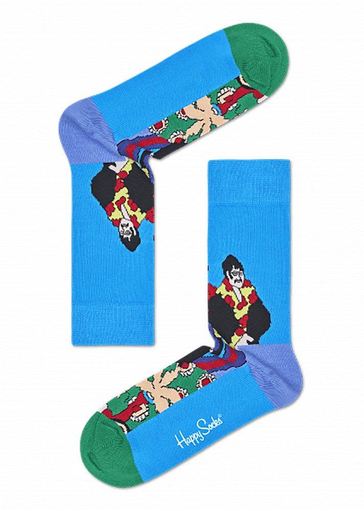 Happy Socks The Beatles Limited Edition Unisex Pepperland Socks (Blue Multi, 10-13)