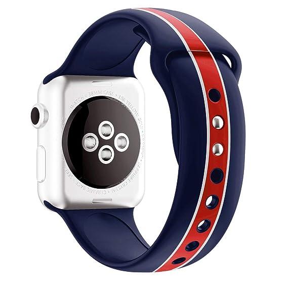 Amazon.com: Daze Smartwatch Bands Navy Blue Style Sport ...