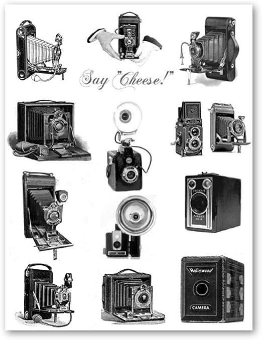 Cartel De Ilustración De Cámara Imprime Regalo para Amantes De La ...