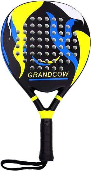 Amazon.com: GRANDCOW POP - Raqueta de pádel de fibra de ...