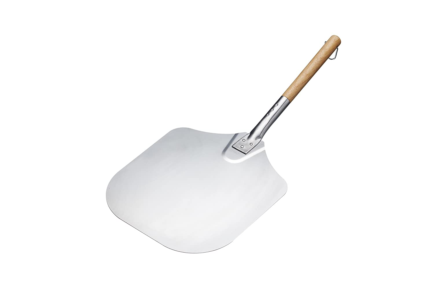 Kitchencraft Italian Traditional Pizza Peel, 65.5 x 30.5cm - Silver/beige