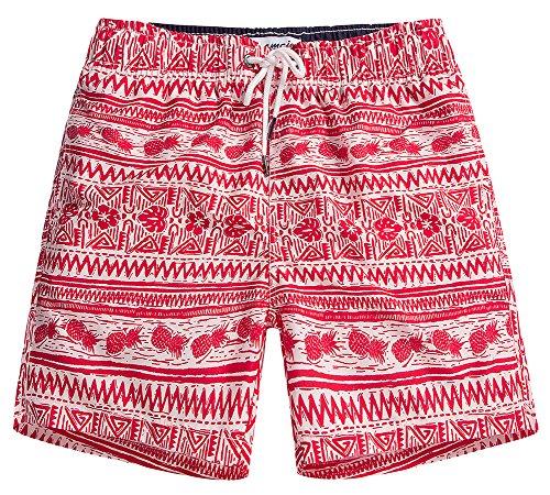 MaaMgic Mens Quick Dry Pineapple Swim Trunks With Mesh Lining Swimwear Bathing Suits