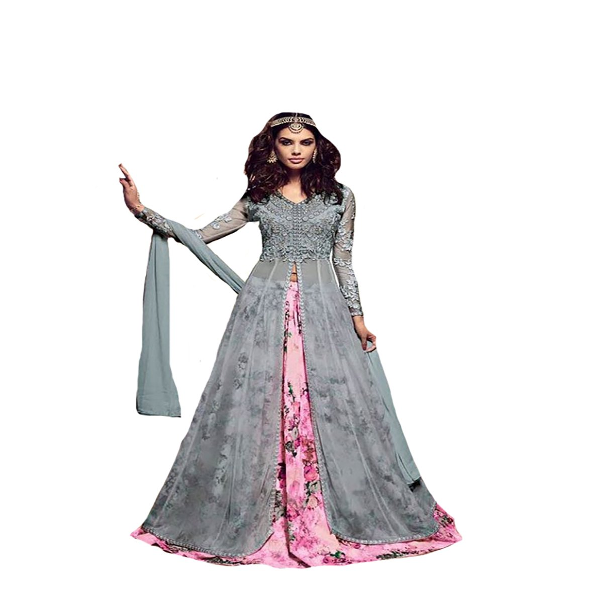 Bollywood Collection Indo western Gown Indian Ceremony